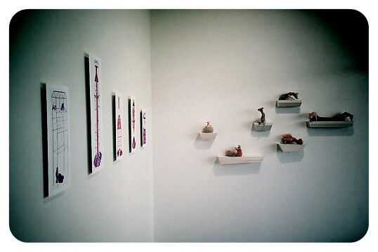 Wendy Richdale (prints) Lynda Wilson (sculpture) for exhibition Fancy That, June 2013