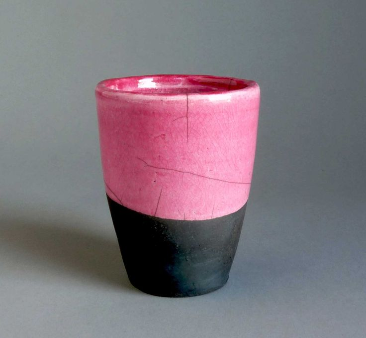 Gobelet Raku rose by Kaolin Créations