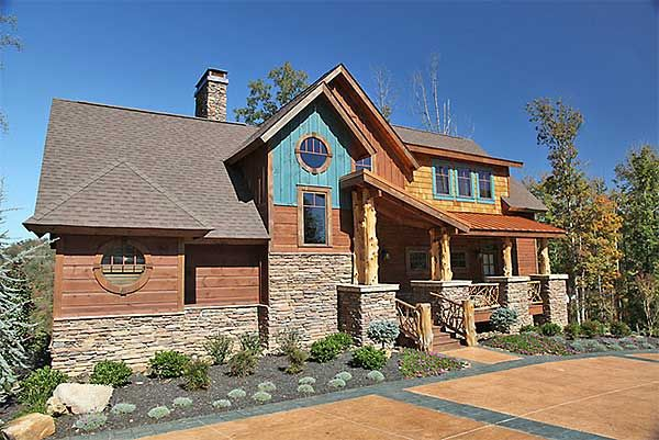 17 best ideas about mountain home exterior on pinterest for Mountain vacation home plans