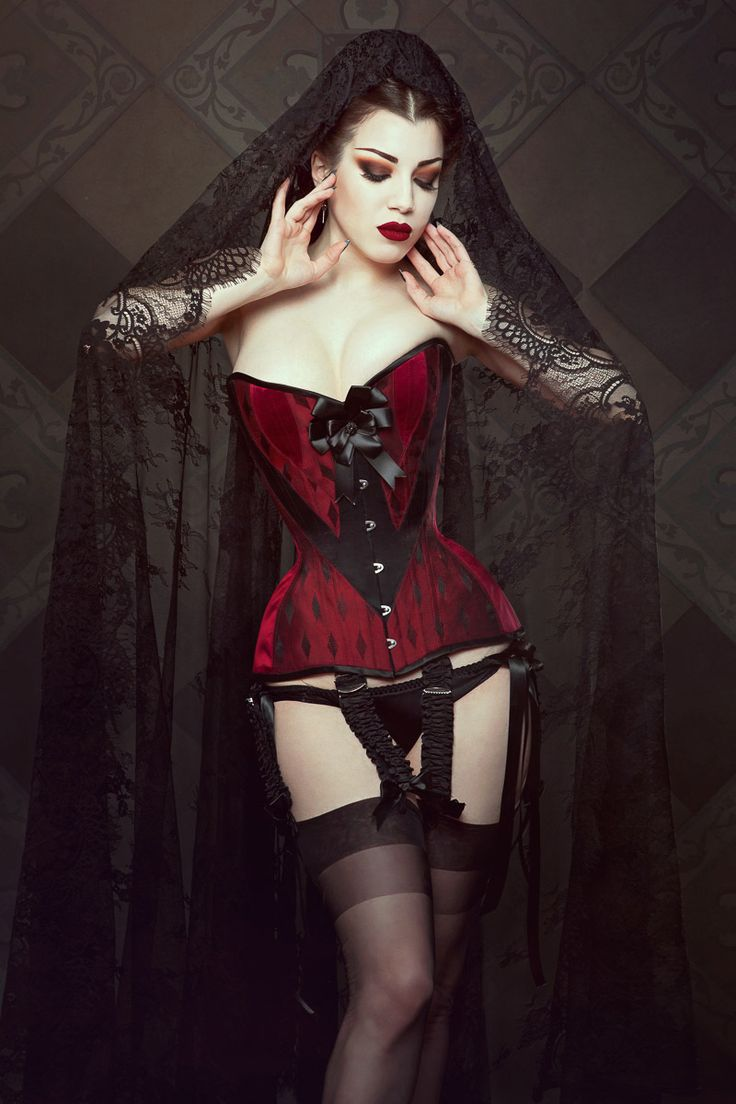 Alluring woman! gothic erotic photography attractively busty