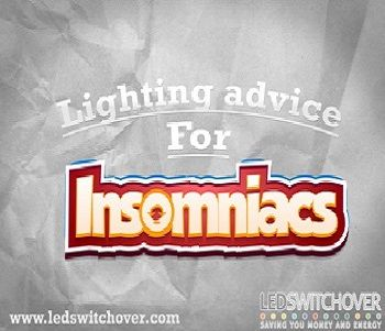 Insomnia help and advice. How changing your lighting can help ease insomnia and seasonal affective disorder symptoms.