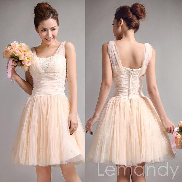 Ballet color bridesmaid dress