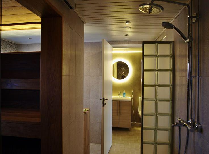 #bathroom #sauna #led-mirror #renovation #interiordesign #interiorarchitect