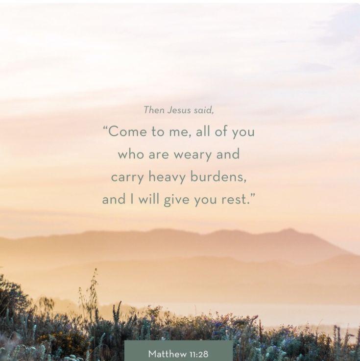 Motivational Monday- Matthew 11:28