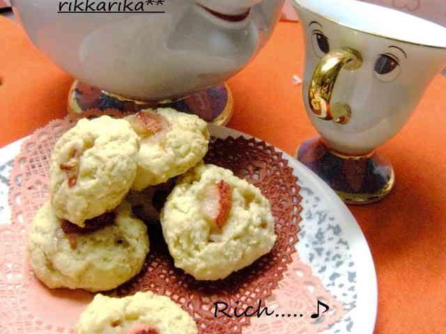 優しい~リッチ♪イチゴ練乳クッキー♡♡の画像