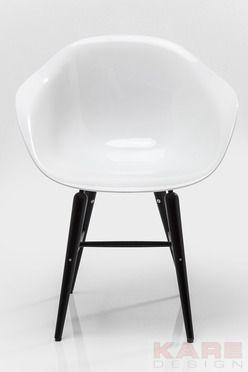 Stuhl mit Armlehne Black Forum Matt White #kare #kareaustria #stuhl #armlehne #forum #white #black