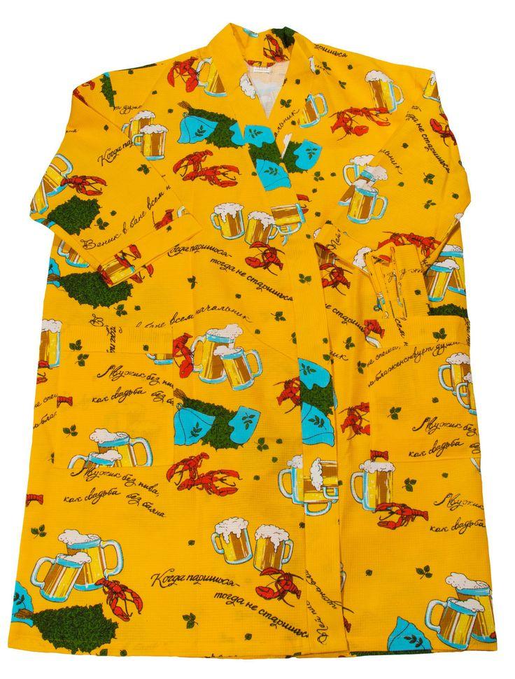 Банный халат желтый, 2 300 p.