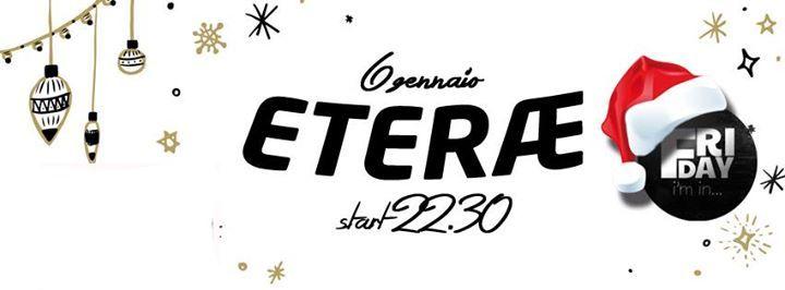 Venerdì 6 GENNAIO Friday I'm Inn presenta ETERÆ (grunge/noise) live a Soverato @ Sir Francys Drake pub  /// ARTIST BIO /// Eterae è un progetto musicale che nasce nel giugno del 2014, ma prende il nome attuale e raggiunge un iniziale stabilità nel mese di novembre. Nell'aprile 2015 registrano il loro primo EP ''Psycotropia'', girano il videoclip di uno dei brani intitolato ''UFO'' e subito dopo cambiano batterista arrivando alla formazione attuale. Da questo momento in poi si evolvono le…