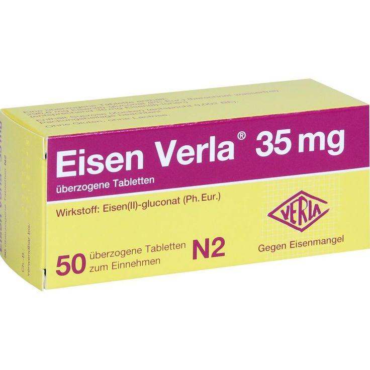 EISEN VERLA 35 mg überzogene Tabletten:   Packungsinhalt: 50 St Überzogene Tabletten PZN: 11163892 Hersteller: VERLA-PHARM Arzneimittel…