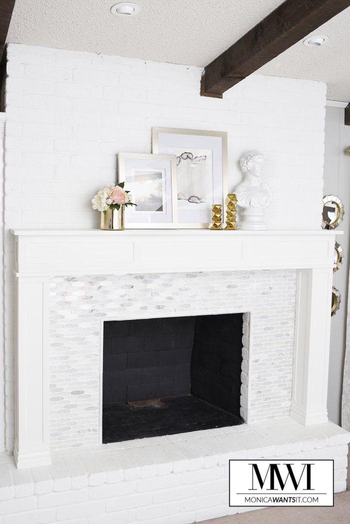 diy marble fireplace u0026 mantel makeover
