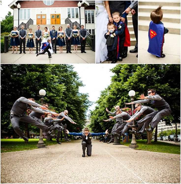 that bottom picture for sure...also the ring bearer as a super hero...yes