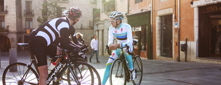 Girona, in northern Spain, is home to some of the world's best pro cyclists. Route from Pont de Pedra to Llora and futher.