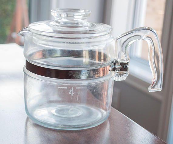 Magnifique carafe à café et/ou à thé 4 tasses vintage de Pyrex