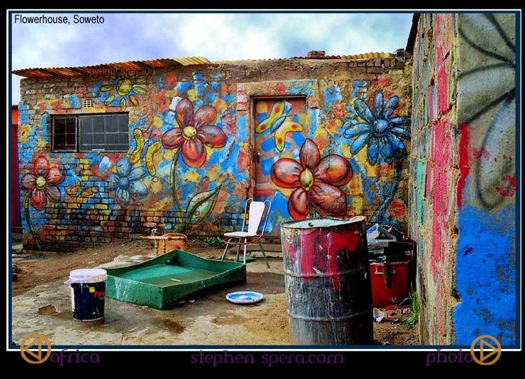 In South Africa's Soweto Township, a few years back. Photo : Spera