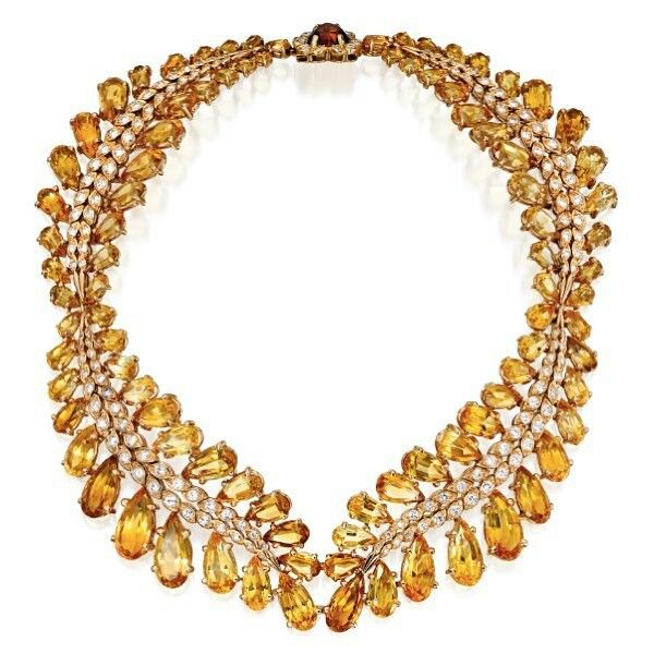 Citrine and diamond necklace, by Sterle @ Sotheby's