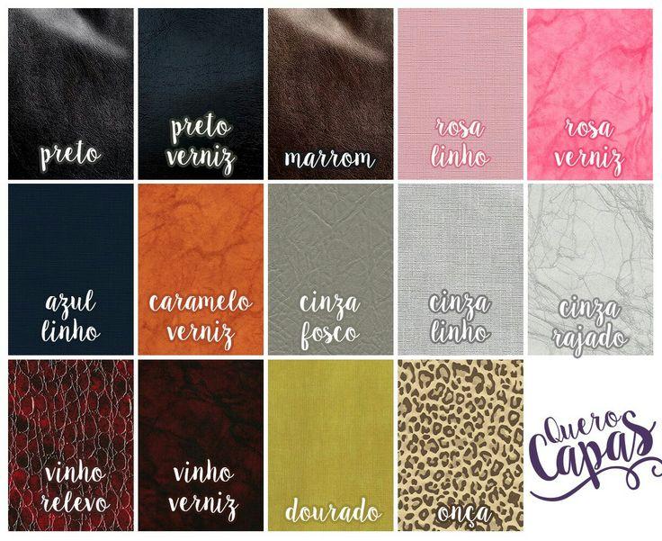 Opções de cores disponível