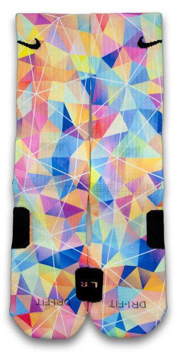 Diamond Effect Custom Elite Socks by CustomizeEliteSocks on Etsy, $34.99