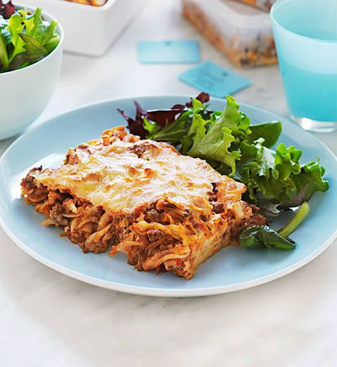 Lamb pasta bake: A tasty, satisfying dinner you can dish up at a moment's notice? You betcha! The fresh herbs liven up this classic bake.