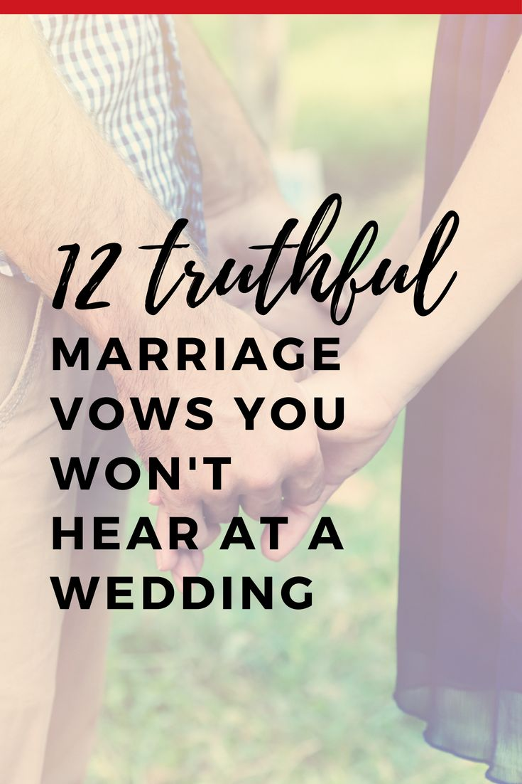 12 Eheversprechen, die Sie bei einer Hochzeit nicht hören werden
