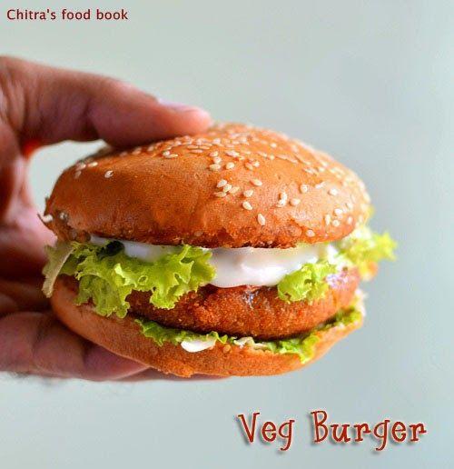 Veg Burger Recipe-Mc Donald's style veg burger patty recipe.