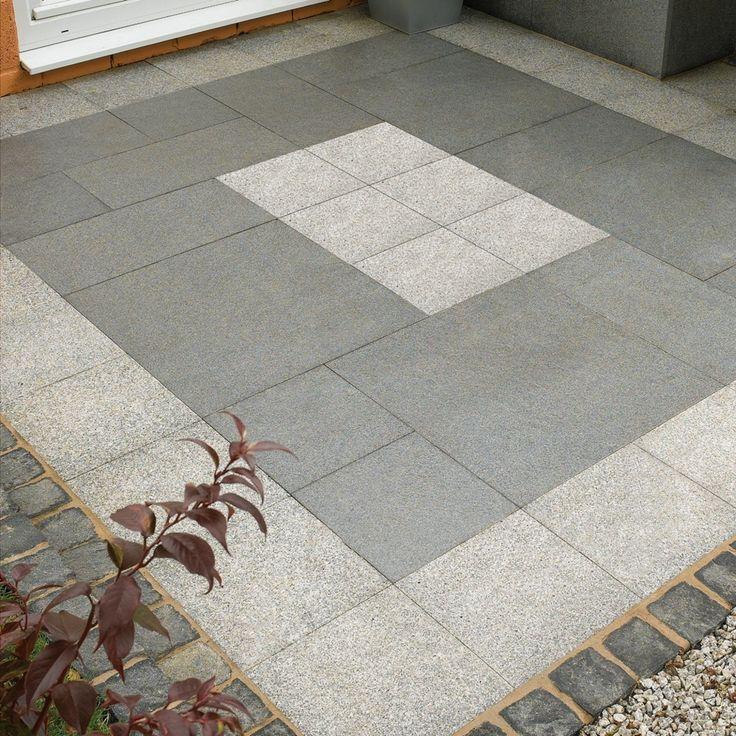 StoneFlair by Bradstone, Natural Granite Paving Mid Grey 300 x 300 - 80 Per Pack