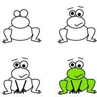 kids learn how to draw a frog | crafts  creativity. Basteln  Kreativität . bricolage  creativité | @ Bastel dich blue |