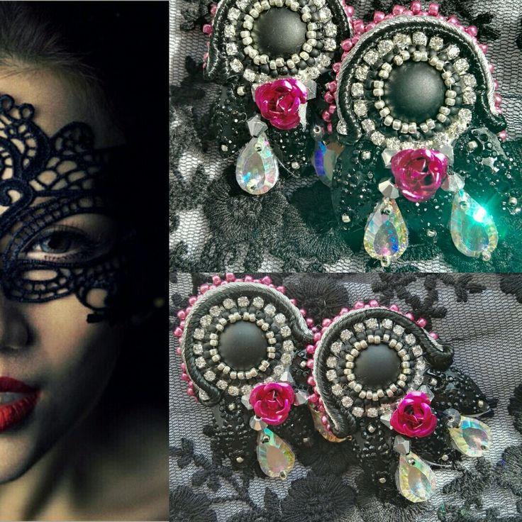 Gotika - soutache earrings