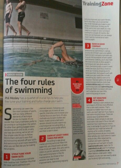 Rules of swimming