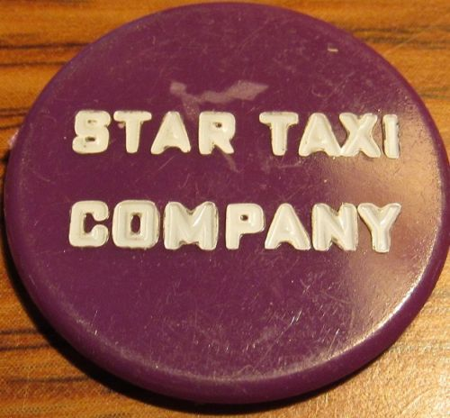 Vintage-Star-Taxi-Company-Unknown-Location-Purple-Plastic-Transit-Token-Cab