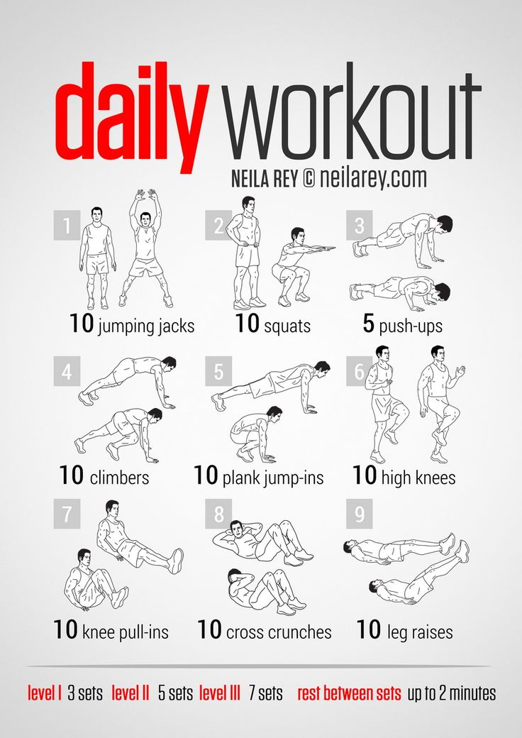Here is our Workout of the week:  Daily Workout This is the perfect workout for those days when you're not sure what to do and know you really need to do something to workout. Use it as a filler, a routine, the … Read More