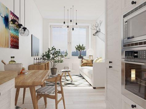 Дизайн малогабаритной квартиры в скандинавском стиле - Фото Дизайн интерьера
