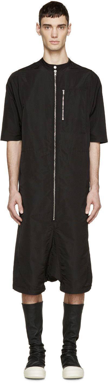 Rick Owens Black Bodybag Jumpsuit