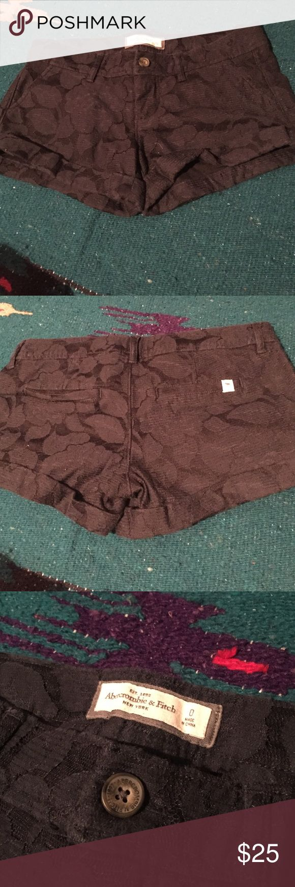 Abercrombie & Fitch navy blue shorts; size 0 Abercrombie & Fitch navy blue floral shorts; size 0 Abercrombie & Fitch Shorts