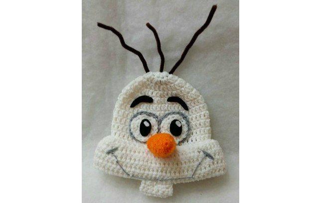 O Olaf, de Frozen, também pode ser representado em uma touquinha. Foto: Pinterest/Katy Holybee
