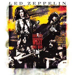 "☮ American Hippie Classic Rock Music  Led Zeppelin, ""How the West Was Won"" Album art"