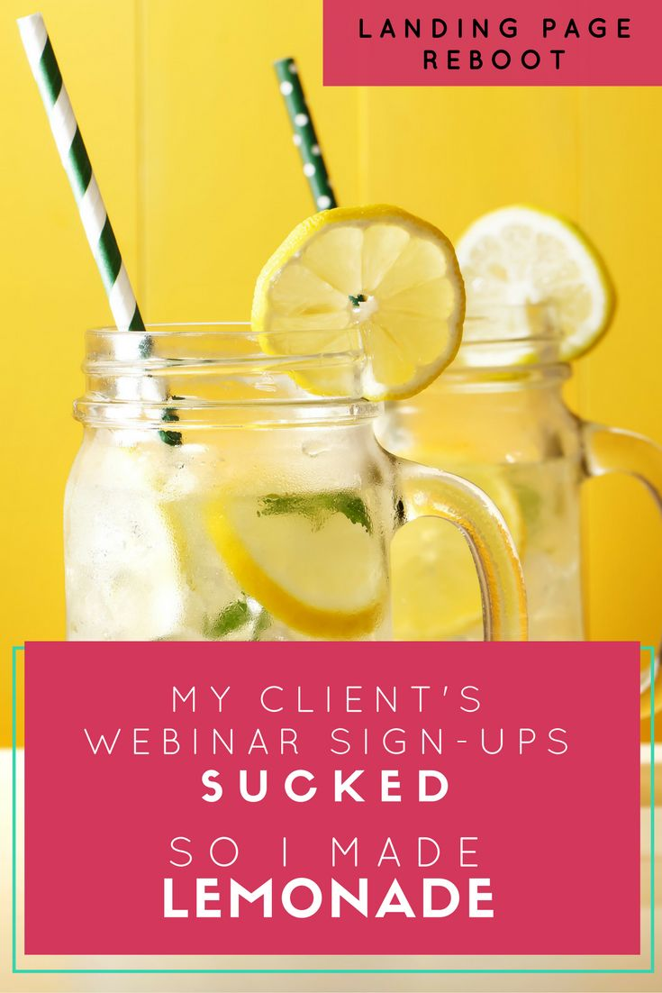 Landing Page Reboot: My Client's Webinar Signups Sucked So I Made Lemonade // Semonna McNeil - New Client Magnet