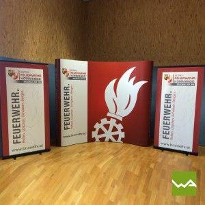 MESSEWAND POP UP MAGNETIC von dieWerbearchitekten für die Feuerwehr Braunau