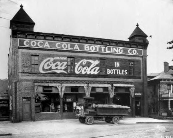 Coca-Cola, plant, truck, 1920. Asheville, NC