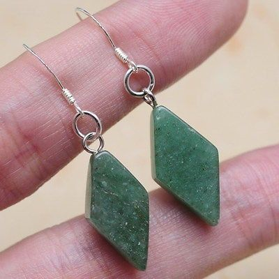 Green Aventurine Diamond Earrings - pinned by pin4etsy.com