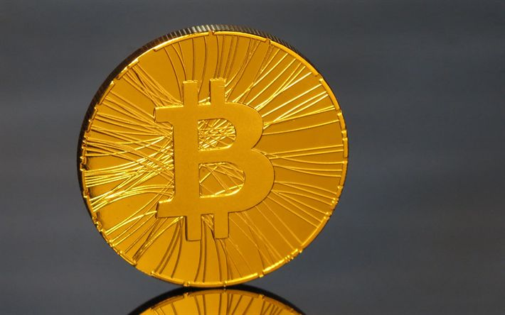 Download wallpapers bitcoin, gold coin, cryptocurrency, bitcoin sign