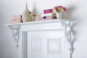 Over The Door Shelf - now that's clever!