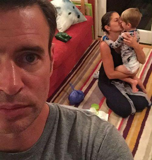 Scott Foley family: wife Marika and son Konrad Foley in ...