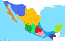 a map of the actual spanish dialects of mexico there are 10 different variants here though some are very similar to others most differences occur in