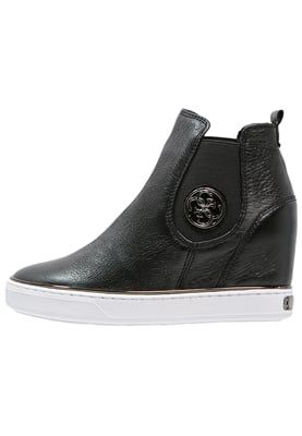 FREDA - Støvletter m/ kilehæl - black