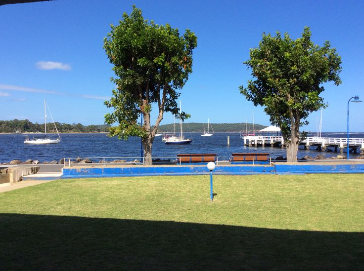 View from our motel in batemans bay