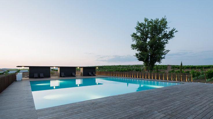minimalist modern pool decking