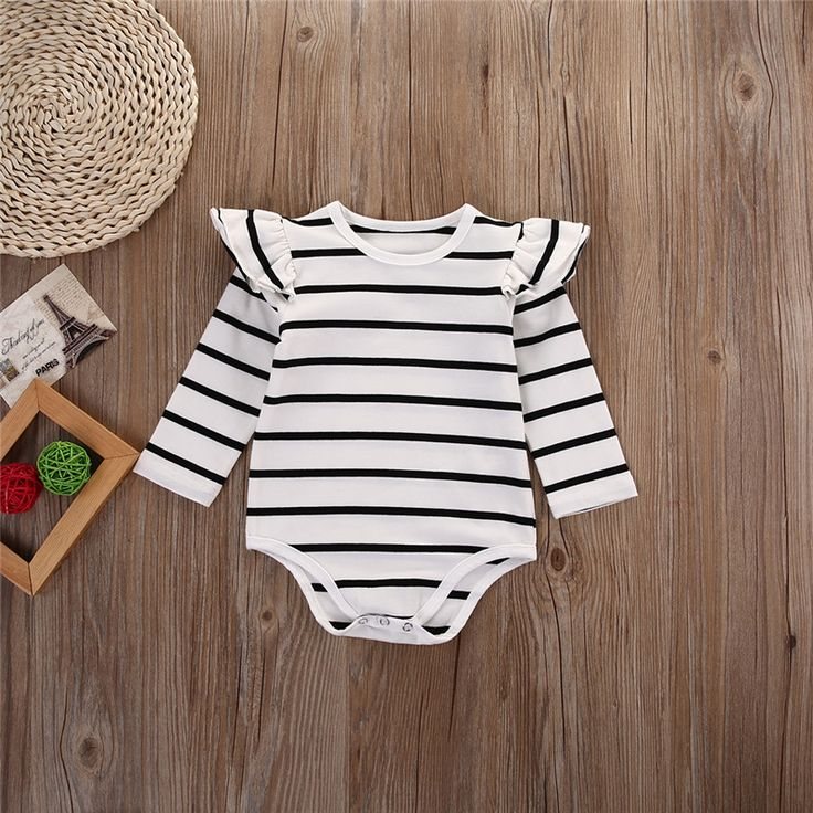 Infant Baby Long Sleeve Striped Rompers Autumn Winter Clothing Wear Newborn Kids Baby Girl Jumpsuit ChicTutu Clothes Outfit! Wholesale Jewelry #Importexpress #chinawholesale