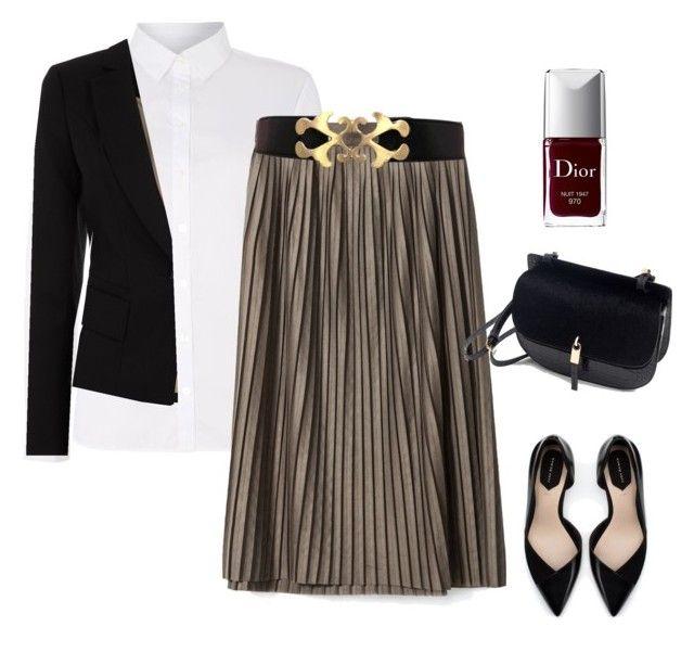look falda plisada para la oficina by visionestilo on Polyvore featuring moda, Part Two, Oasis, Zara and Christian Dior