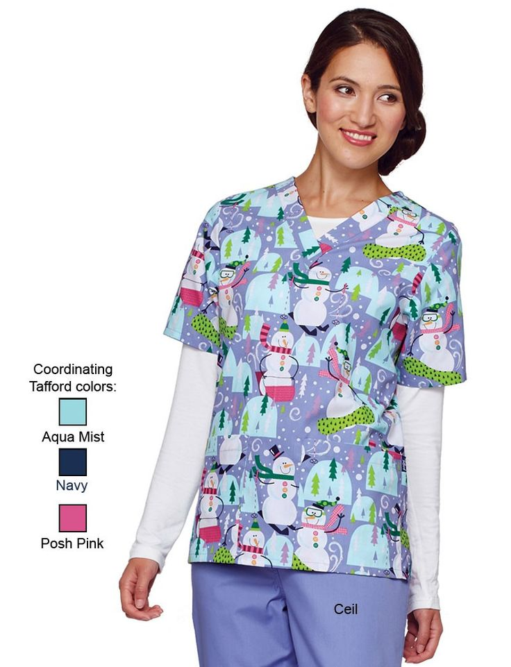 Cherokee Ghouls Night Out V-Neck Scrub Top- I keep telling myself that I don't need more halloween scrubs. Find this Pin and more on Halloween Scrubs by tafford. Cherokee Women's Classic Fit V-Neck Top_Ghouls Night A fit and flare V-neck top features two patch pockets, an instrument loop and side vents for ease of movement.