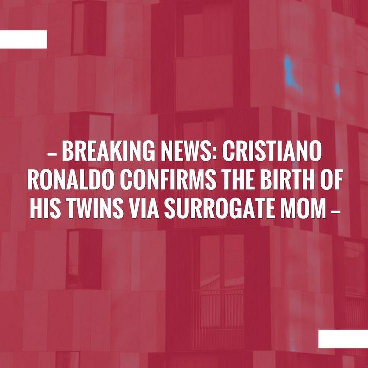 New on my blog! Breaking News: Cristiano Ronaldo confirms the birth of his twins via surrogate mom http://sportstribunal.com/football/talks/breaking-news-cristiano-ronaldo-confirms-the-birth-of-his-twins-via-surrogate-mom/?utm_campaign=crowdfire&utm_content=crowdfire&utm_medium=social&utm_source=pinterest